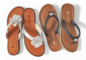 Magnolia and Vine Jewelry Snap Flip Flops available at MyStyleInASnap.com