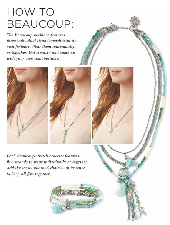 Magnolia and Vine Beaucoup Collection - Multi-strand necklaces and Bracelets - available at MyStyleInASnap.com