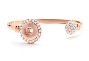 Rose Gold Dazzle Bangle Bracelet #S1178