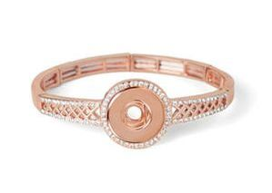 Rose Gold Lattice Play Stretch Bracelet #S1525