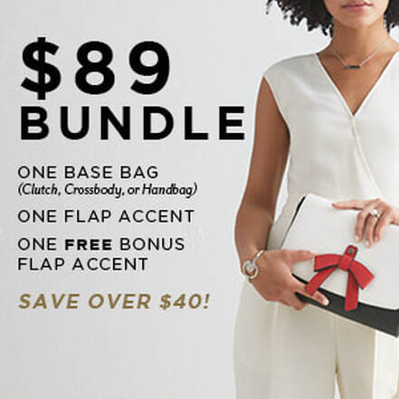 $89 Versa Bundle One Base Bag, Two Flap Accents - SAVE OVER $40. Shop MyStyleInASnap.com