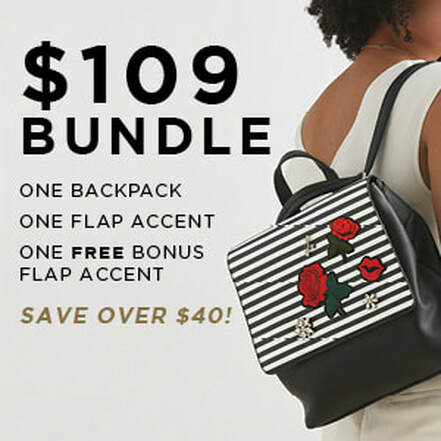 $109 Versa Bundle One Backpack Base Bag and One Flap Accent. Shop MyStyleInASnap.com