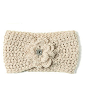 Magnolia and Vine Rocky Mountain Winter Knit Headband Oatmeal #S0987 available at MyStyleInASnap.com