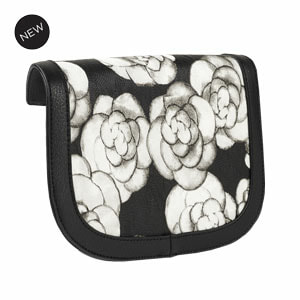 Rosalee Flap Accent Black/White Flap Accent for our Interchangeable Handbags. Create the handbag of your dreams. Shop MyStyleInASnap.com
