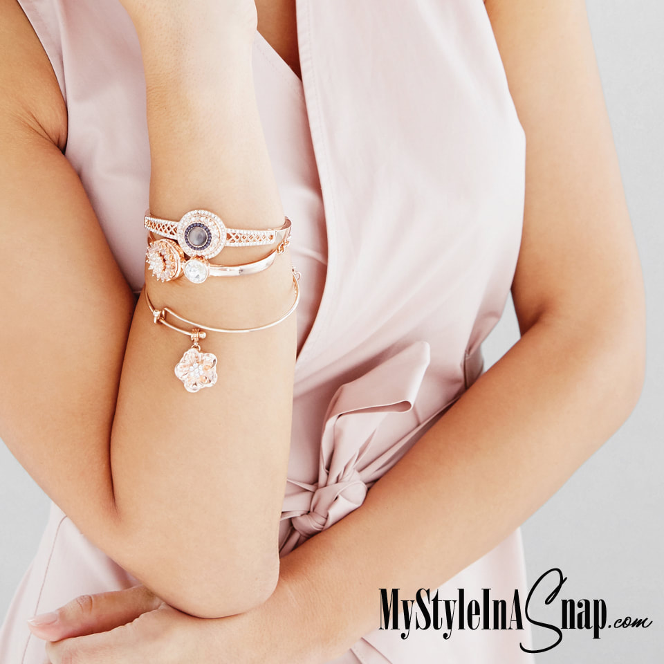 Our new favorite is Rose Gold in bracelets, necklaces, earrings, it looks great on every skin tone, especially for summer.  Shop MyStyleInASnap.com LOVE IT? Join us and get it all at consultant prices.