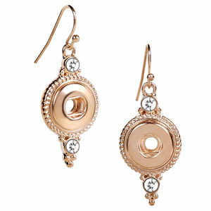 Magnolia and Vine #M0692 Mini Rose Gold Crowning Touch Earrings available at MyStyleInASnap.com