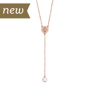 Mini Rose Gold Satellite Necklace #M0684 by Magnolia and Vine available at MyStyleInASnap.com - LOVE IT? Join us and get it all at consultant prices.