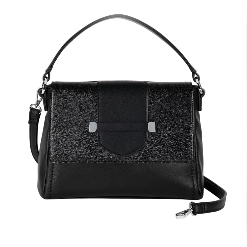 Spectator Flap Accent - Black/Silver Glitter - paired with the Versa Signature Handbag Base Bag at MyStyleInASnap.com