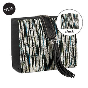 Spinning Wheel Wraparound Accent Black/White for Versa Handbags - MyStyleInASnap.com