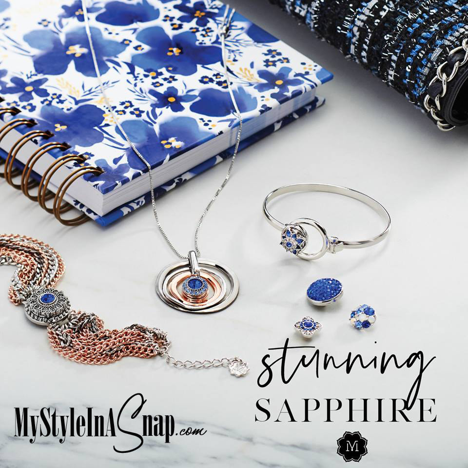Grab some striking sapphire-inspired Snaps for September birthday gifts or just because (and get a few for yourself, too.)  Shop at MyStyleInASnap.com LOVE IT? Join us and get it all at consultant prices.