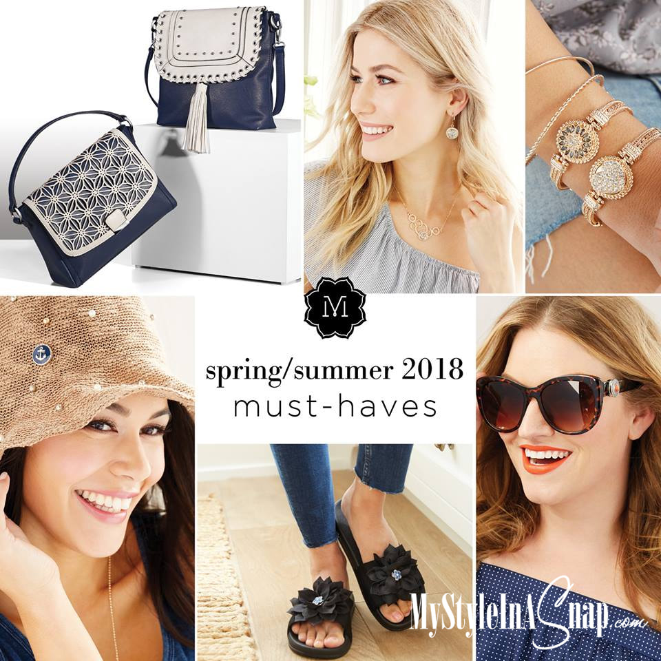 Time to get your navy on and to add some yellow gold to your metal mix or get ready for warm weather with our flip flops, sandals, hats, sunglasses and more. MyStyleInASnap.com LOVE IT? Join us and get it all at consultant prices.