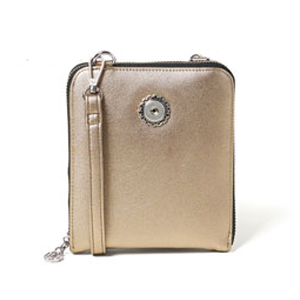 Magnolia and Vine # S1007 Valerie Crossbody Metallic Bronze available at MyStyleInASnap.com