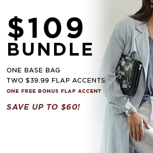 $109 Versa Bundle One Base Bag, Two $39.99 Accents. Shop MyStyleInASnap.com
