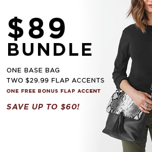 $89 Versa Bundle One Base Bag, Two $29.99 Accents. Shop MyStyleInASnap.com