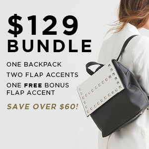 $129 Versa Bundle One Backpack Base Bag and Two Flap Accents. Shop MyStyleInASnap.com
