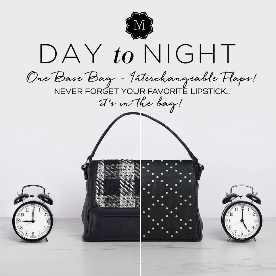 VERSA interchangeable handbag! Change you look in an instant and never leave your favorite lipstick at home again! See all the looks at MyStyleInASnap.com LOVE IT? Join us and get it all at consultant prices!