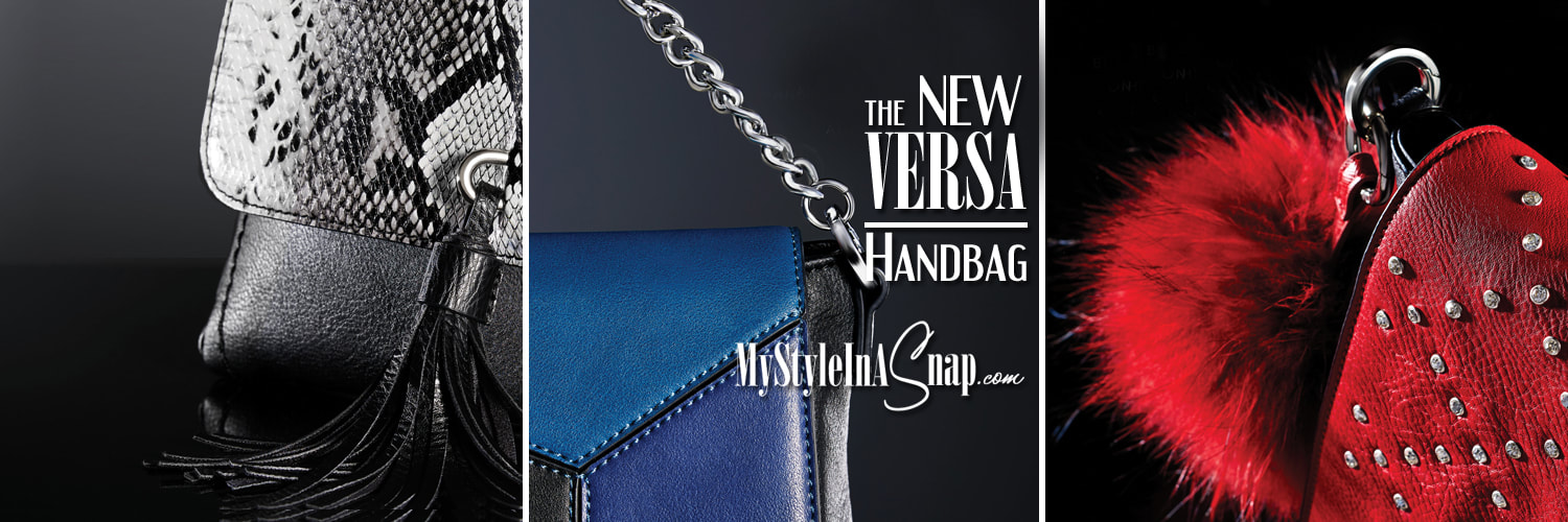 The VERSA Signature Handbag - 36 interchangeable looks! Available at MyStyleInASnap.com