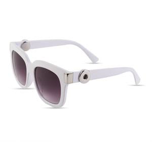 Magnolia and Vine Ara White Sunglasses accented with Jewelry Snaps available at MyStyleInASnap.com