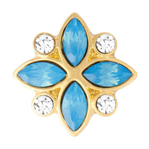 Yellow Gold Petals Aqua Jewelry Snap at MyStyleInASnap.com