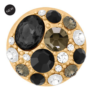Yellow Gold Tone Estate Black Snap #S1642 by Magnolia and Vine available at MyStyleInASnap.com