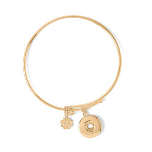 Yellow Gold Tone Perfect Circle Bracelet #S1674 by Magnolia and Vine available at MyStyleInASnap.com
