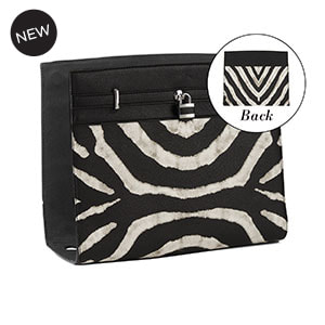 Zebra Stripe Geo Print Wraparound Accent Black/White for Versa Handbags - MyStyleInASnap.com