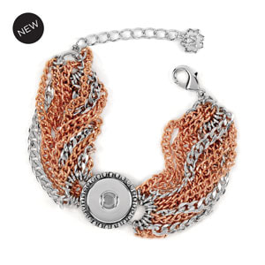 Artisan Chain Bracelet - Tri-Color, Rhodium, Rose Gold Tone & Gunmetal at MyStyleInASnap.com