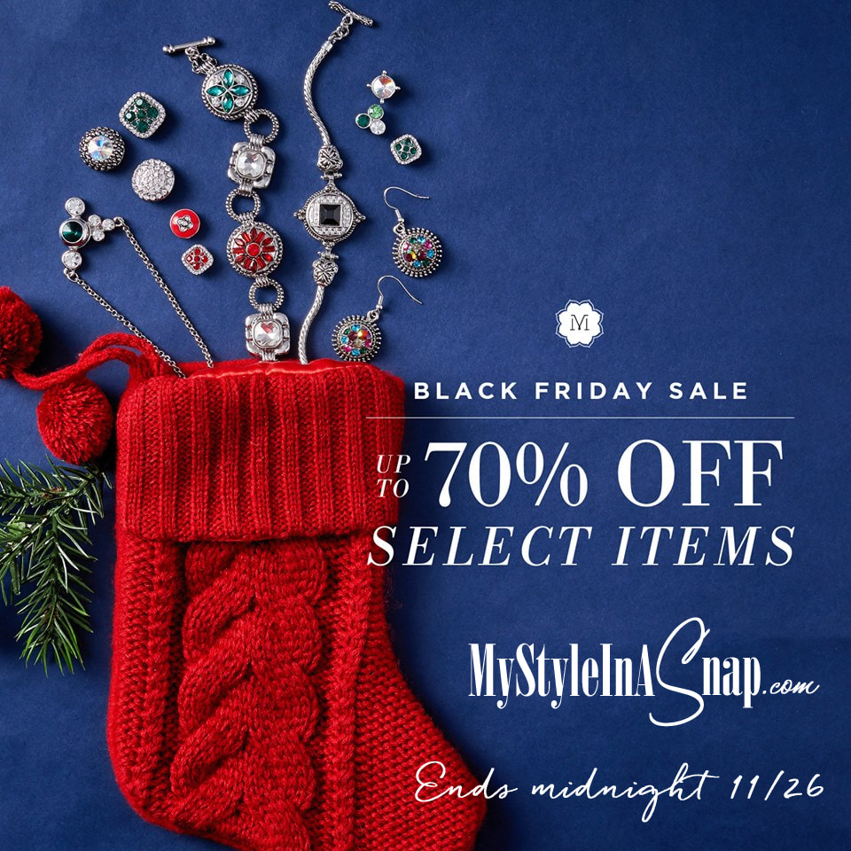 Shop the Magnolia and Vine 2017 Black Friday Sale - Ends November 26th - MyStyleInASnap.com - up to 70% off select jewelry, accessories and snaps!