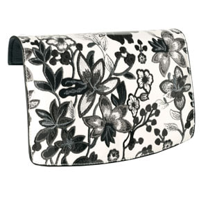 Botanica Black & White Flap Accent #V0213 for the VERSA INTERCHANGEABLE HANDBAG. Fits our Signature or Journey VERSA Base Bags in Black, Navy, Brown or Grey. VEGAN LEATHER. Carry crossbody or with the single short strap. Shop MyStyleInASnap to see ALL THE FLAP ACCENTS! Love it? Join us and get it all at consultant prices!