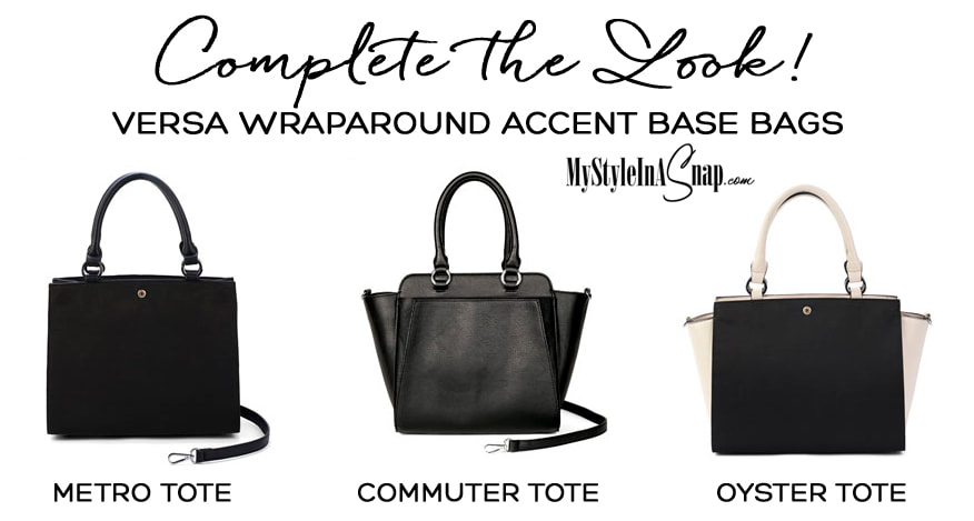 Versa Interchangeable Handbag Wraparound Accent Base Bags available at MyStyleInASnap.com
