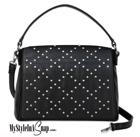 Interchangeable VERSA Handbag with the black Diamond Dazzle Accent Accent interchangeable flap -  Change your purse Accent flap to match your outfit, your personality or your occasion!  Shop MyStyleInASnap.com - LOVE IT? Join us and get it all at consultant prices!