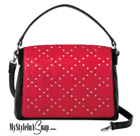 Interchangeable VERSA Handbag with the Red Diamond Dazzle Accent Accent interchangeable flap -  Change your purse Accent flap to match your outfit, your personality or your occasion!  Shop MyStyleInASnap.com - LOVE IT? Join us and get it all at consultant prices!