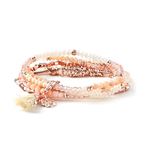 Magnolia and Vine Beaucoup Bracelet Coral/Rose Gold #V0021 available at MyStyleInASnap.com - BUY 4 SNAPS, GET 1 FREE! Want it all at a discount? Join our Team! (You can even sell to your friends for some extra cash!)