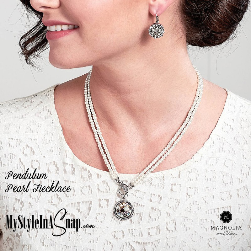 Pendulum Pearl Necklace from Magnolia and Vine available at MyStyleInASnap.com
