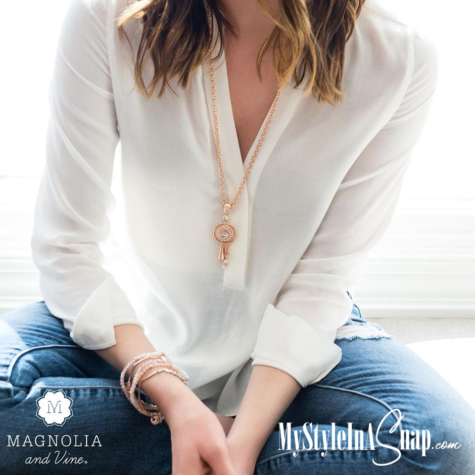 Effortless, luxurious, and on trend style is easy with our Magnolia and Vine's Rose Gold and Beaucoup Collections. Discover what interchangeable jewelry can do for your budget and your wardrobe. BUY 4 SNAPS, GET 1 FREE! Love it? Join our team and buy at a discount (you can sell to your friends for extra cash too!)