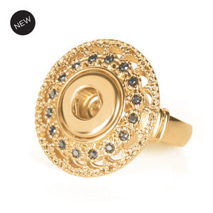 Mini Yellow Gold Celeste Stretch Ring at MyStyleInASnap.com