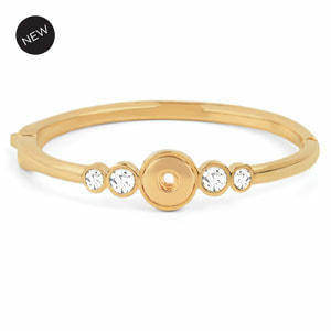 Mini Yellow Gold Beacon Bangle (6