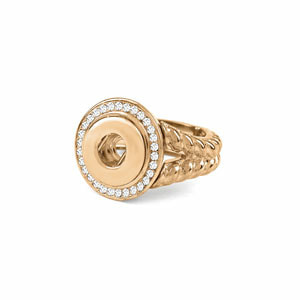 Mini Yellow Gold Radiant Stretch Ring (Fits sizes 5.5-8)