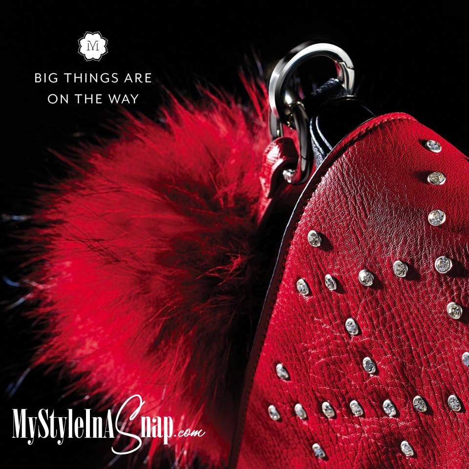 Interchangeable VERSA Handbag: Red Diamond Dazzle Accent (interchangeable flap) is the new handbag that features the Miche Bag patents! Come see all 36 introductory looks at MyStyleInASnap.com - LOVE IT? Join us and get it all at consultant prices!