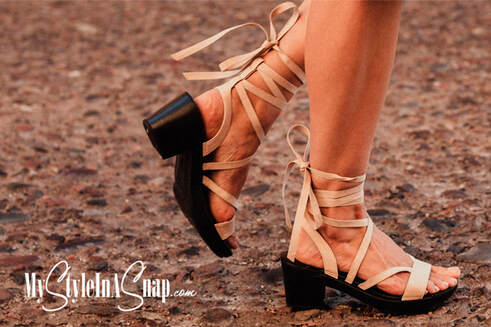 Interchangeable Shoes! Miami Wraparound Ankle Style Sandals