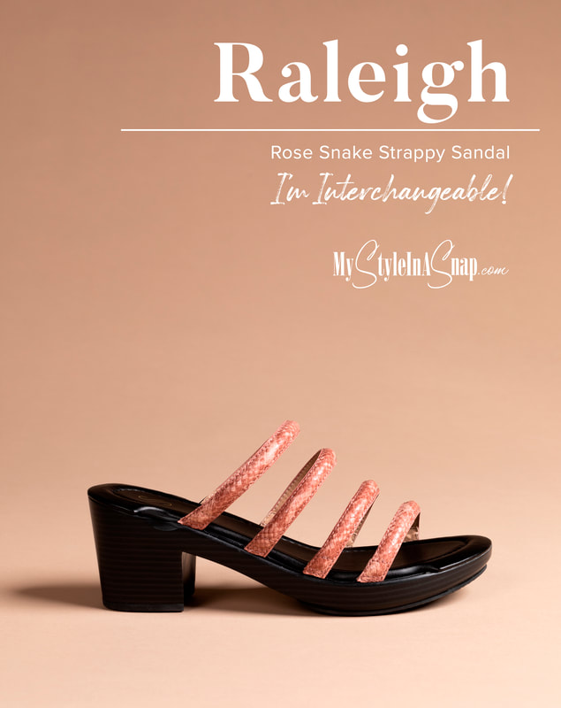Raleigh Rose Strappy Sandal Interchangeable Shoes!