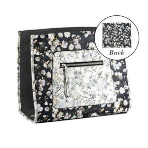 Aster Floral Wraparound Accent Black/White - one of many accents that pair with the interchangeable Tote Bag - Shop MyStyleInASnap.com