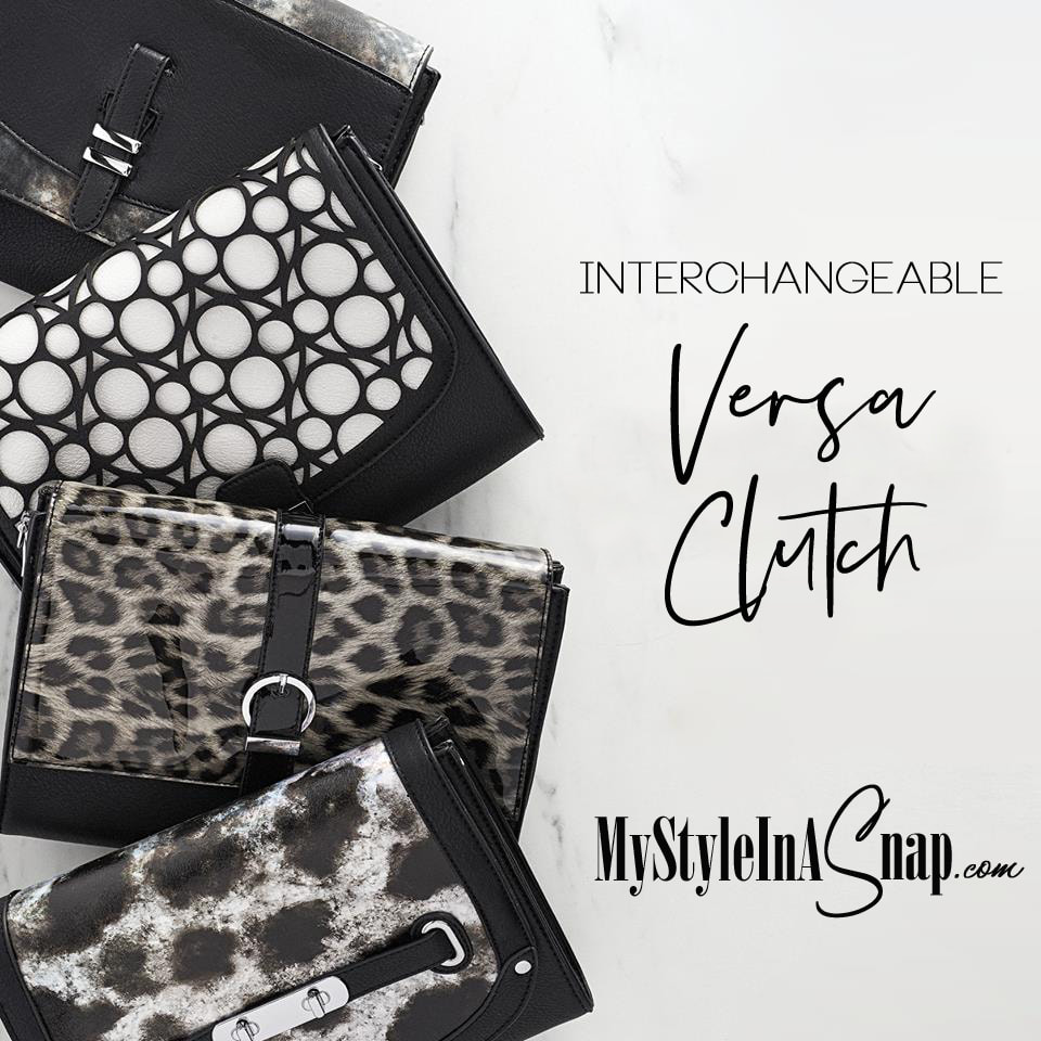 Get your hands on our newest Versa bag -- the Uptown Clutch -- add a few of our interchangeable Accent Flaps in neutral tones and you'll make the transition from fall to winter look absolutely effortless. Shop MyStyleInASnap.com LOVE IT? Join us and get it all at consultant prices.