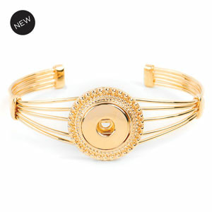 Yellow Gold High Wire Bangle (7.5